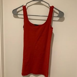Theory Red One Size Fits All Tank Top